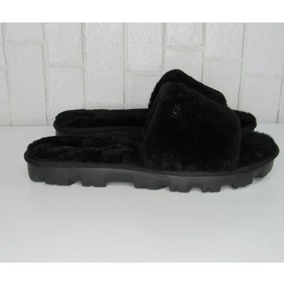 1797074b2f0 UGG Cozette platform slide sandals black Slippers NWT